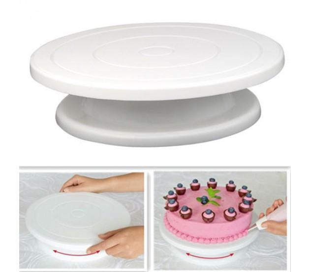 Столик поворотный кондитерский для торта 10 см-28 см пластик