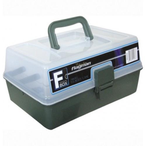 Коробки для рыбалки - Ящик пластиковый 2-х полочный серый 36002