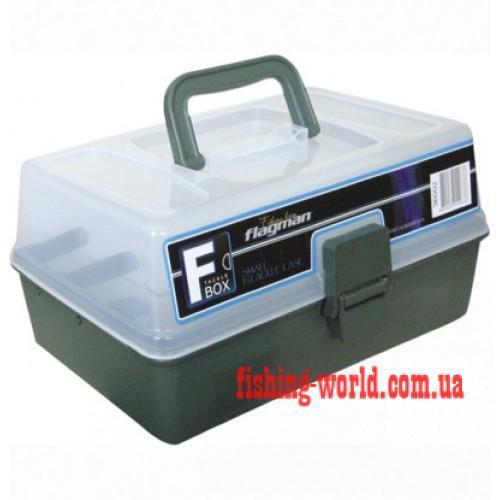 Фото Рыболовные Ящики и Коробки Коробки для рыбалки - Ящик пластиковый 2-х полочный серый 36002