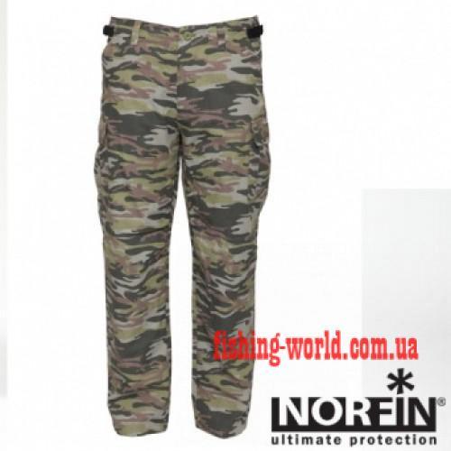 Фото Одежда для рыбаков и охотников, Летняя одежда Штаны Norfin Nature Camo 04 Р. XL