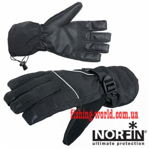 Фото Одежда для рыбаков и охотников, Перчатки, Варежки Перчатки полиэстер с PU мембраной Norfin 703060
