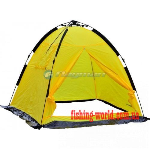 Фото Зимняя рыбалка, Зимние палатки Зимние палатки - FLAGMAN Палатка зимняя полуавтоматическая 170*170*150см F1717Y