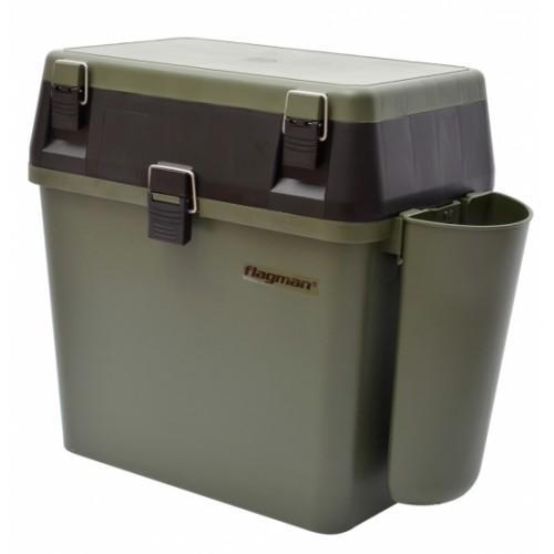 Ящики для зимней рыбалки - Ящик зимний FLAGMAN с карманом для удок F32700
