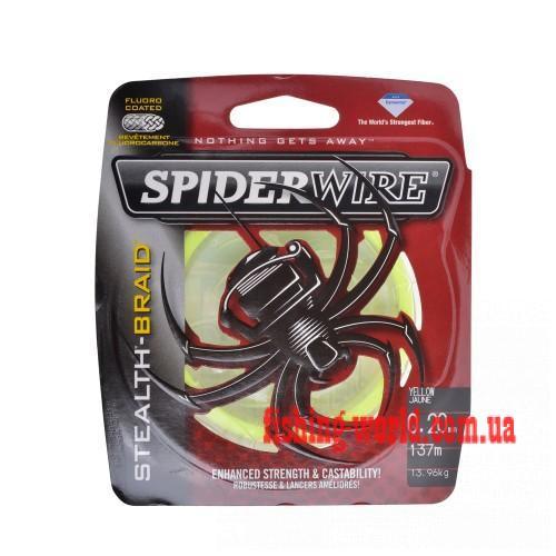 Фото Рыболовные снасти, Леска, Шнуры, Шнуры Шнур Spiderwire Stealth Glow-Vis d-0.10 - 0.20 6.2кг 137м