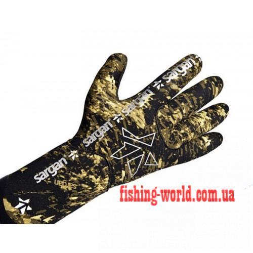 Фото Подводная охота, Дайвинг, Перчатки для подводной охоты Перчатки sargan агидель camo 1.5 мм