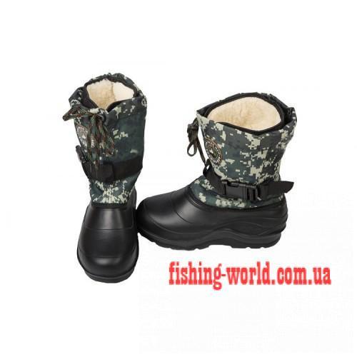Фото Обувь для рыбаков и охотников Зимние сапоги Крок М-7 пиксель