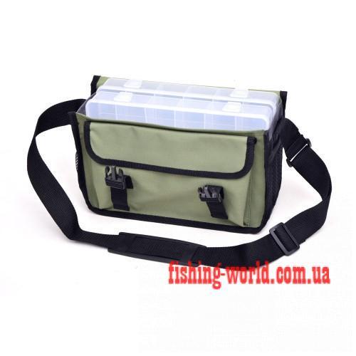 Фото Рыболовные Чехлы, Сумки, Тубусы Сумка спиннинговая наплечная малая с 2 коробками