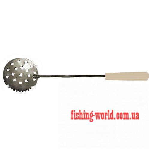 Фото Зимняя рыбалка Черпак зимний с деревянной ручкой