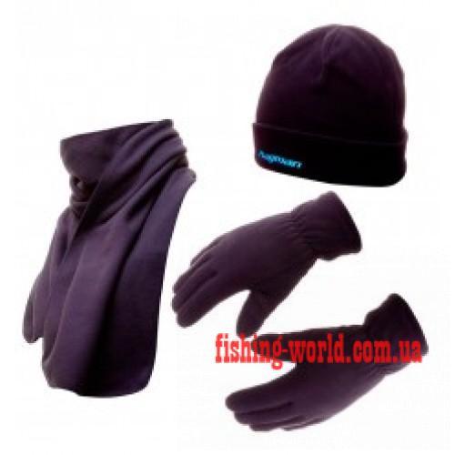 Фото Одежда для рыбаков и охотников Набор флисовая шапка + шарф + рукавички Flagman