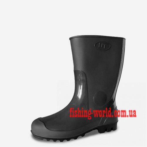 Фото Обувь для рыбаков и охотников Резиновые сапоги ПластТрейд (черные)