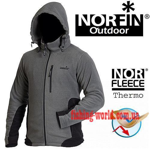 Фото Одежда для рыбаков и охотников Куртка флисовая Norfin OUTDOOR GRAY