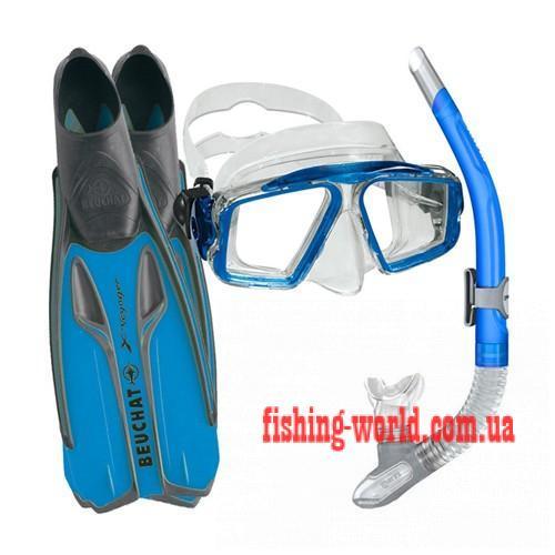 Фото Подводная охота, Дайвинг, Трубки Набор ласты маска трубка Beuchat X-Voyager (42-43)