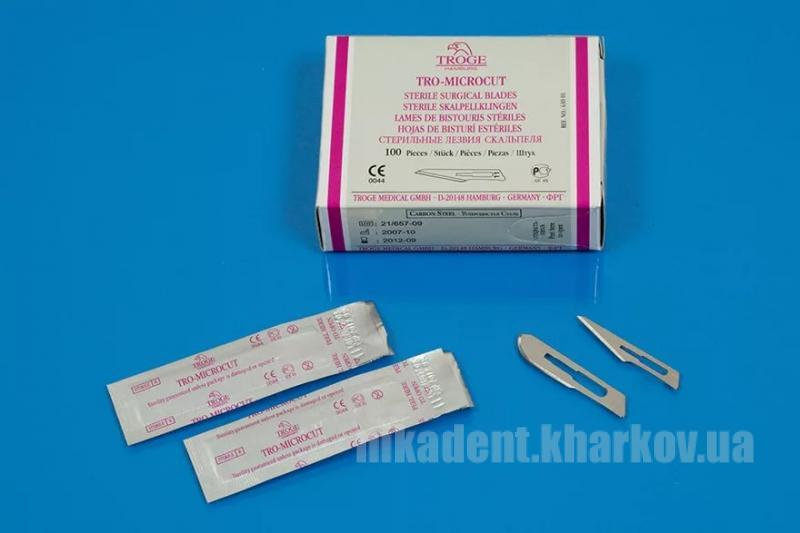 Фото Для стоматологических клиник, Хирургия Лезвия хирургич. одноразовые стерильные TROGE (1шт)