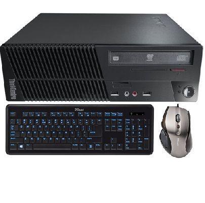 Компьютер Lenovo ThinkCentre M71e+ Клавиатура с яркой светодиодной подсветкой и проводная мышь с 6 кнопками
