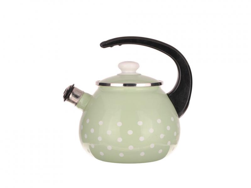 Фото Чайники, Чайники эмалированные Чайник EPOS 2,5л со свистком Мятная Саксония