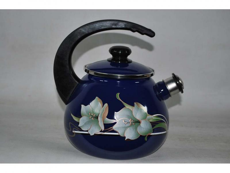 Чайник EPOS 2,5л со свистком Синяя лилия