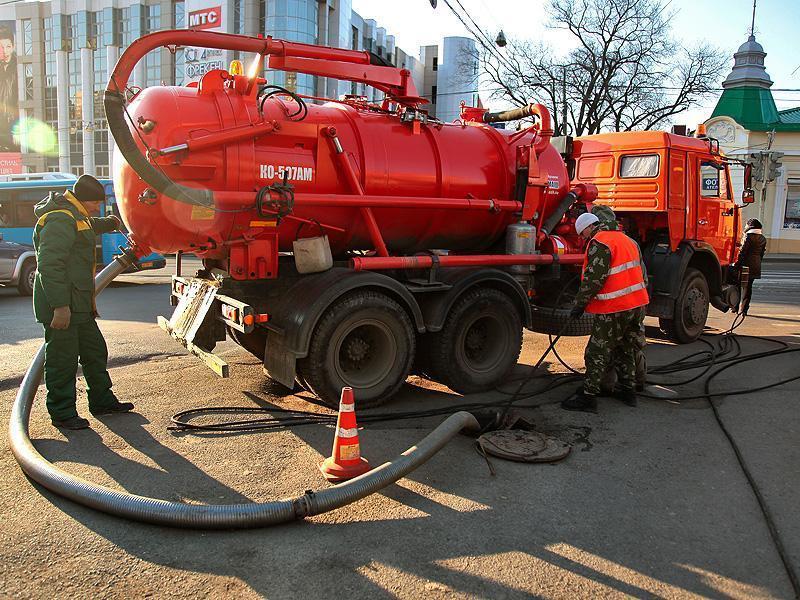 Откачка канализации, услуги илососа