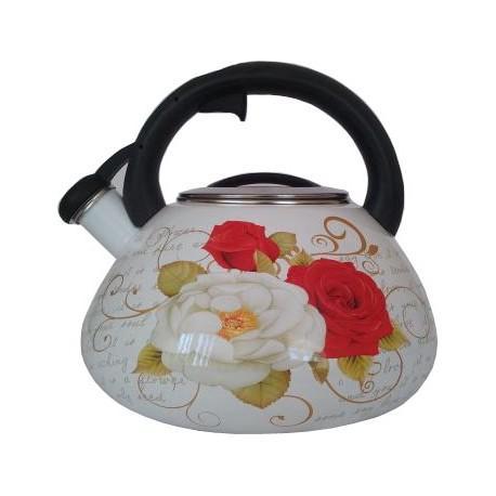 Чайник со свистком 3,2л Zauberg Розы
