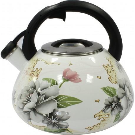 Чайник со свистком 3,2л Zauberg Серая роза