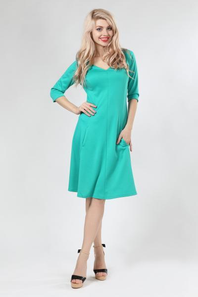 Платье с рельефами (бирюза)