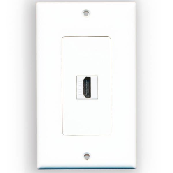 Розетка в стену с одним разъемом HDMI гнездо-гнездо