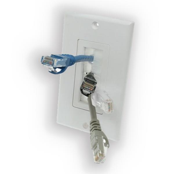 Панель для вывода кабеля с разъемами.