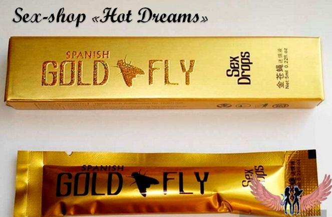 Фото Возбуждающие препараты для женщин (афродизиаки, капли, порошки, жвачки, таблетки, капсулы, крема) Женский быстрорастваримый возбудитель Gold Fly, Золотая мушка