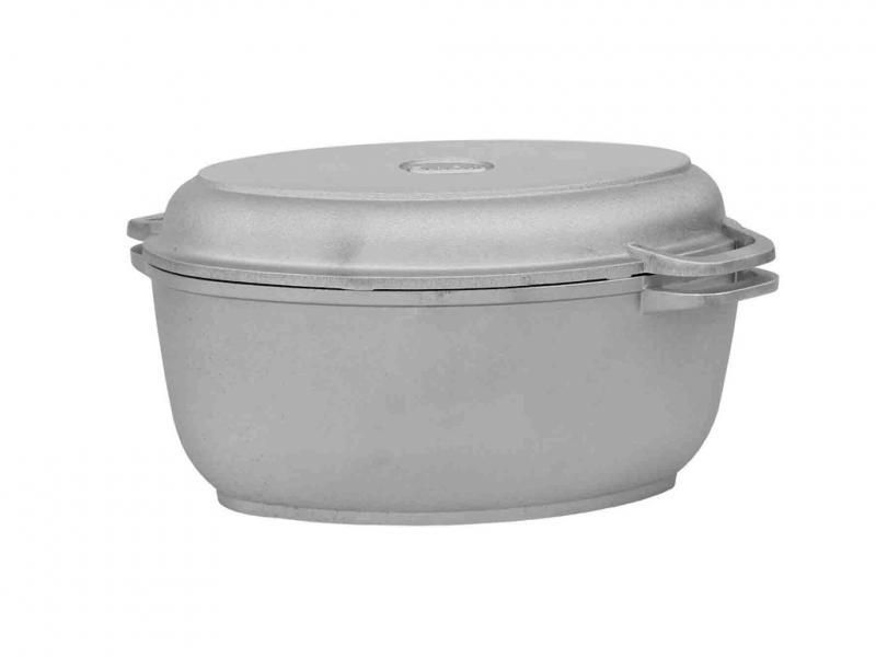 Гусятница Биол с крышкой-сковородой 4л без покрытия