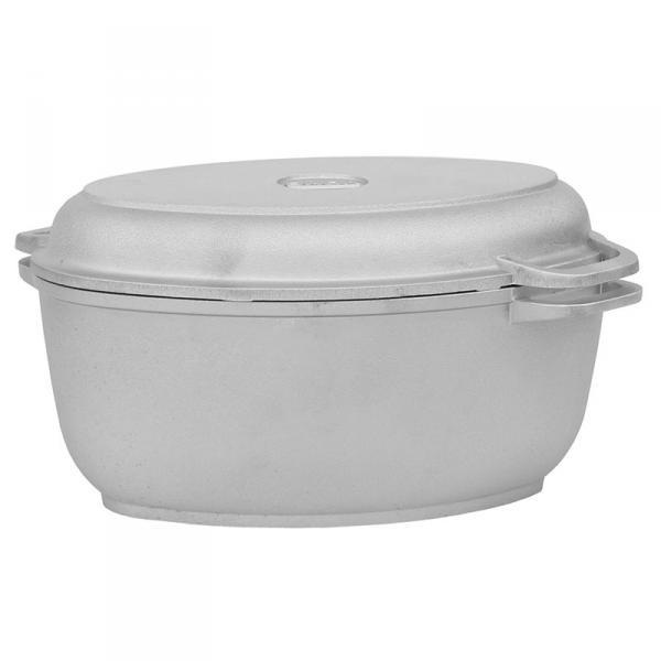 Гусятница Биол с крышкой-сковородой 6л без покрытия