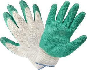 Перчатки трикотажные х/б, одинарный латексный облив
