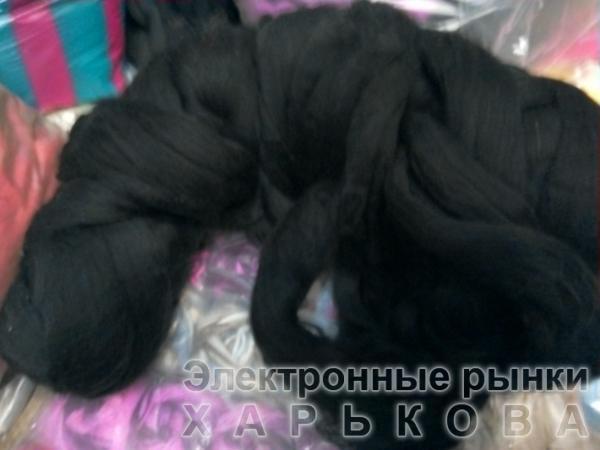 для вязания руками  черный - Толстая пряжа для вязки руками на рынке Барабашова
