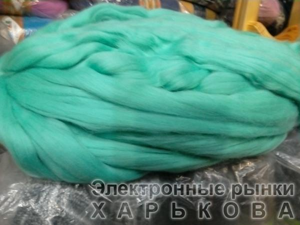 для вязания руками  мята - Толстая пряжа для вязки руками на рынке Барабашова