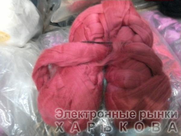 для вязания руками  цикламен - Толстая пряжа для вязки руками на рынке Барабашова
