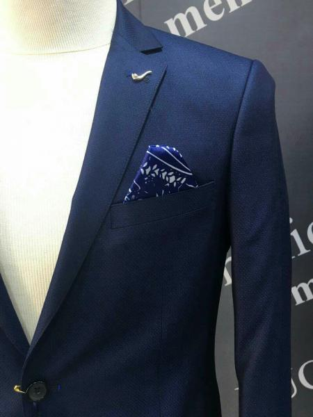 Деловой костюм мужской, цвет темно-синий