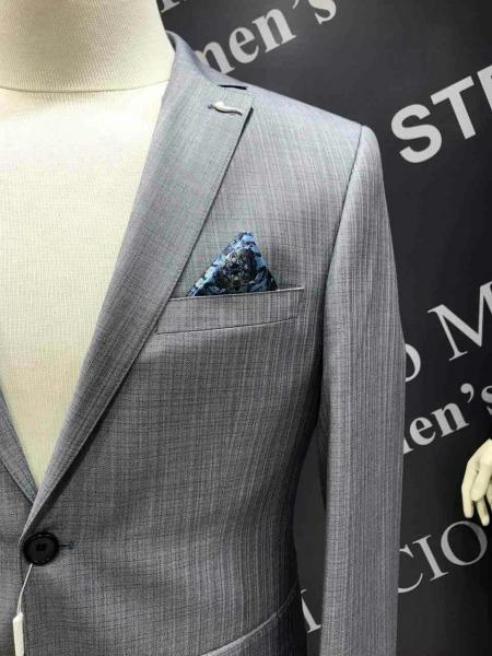 Фото Костюмы, Молодежные костюмы Турция Классический костюм, цвет серый стальной