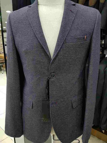 Классический серый пиджак мужской
