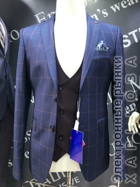 c5a04b136080 Костюм тройка с жилетом, пиджак крупная клетка - Мужские классические  костюмы, смокинги на рынке Барабашова