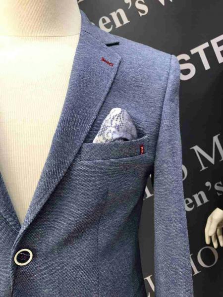 Модный деловой костюм мужской, цвет серый меланж