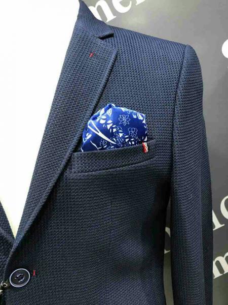 Модный костюм мужской, цвет темно-синий