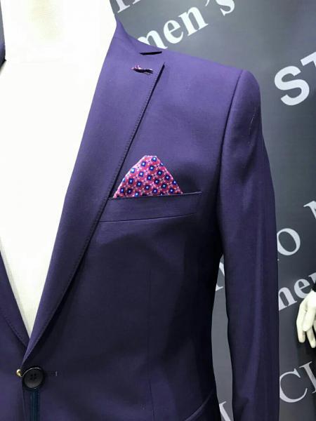 Модный молодежный костюм, цвет фиолетовый