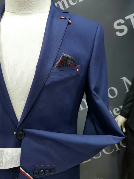 Фото Костюмы, Молодежные костюмы Турция Мужской кстюм на любой случай, цвет синий