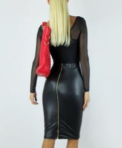 Фото Спідниці, костюми із спідницями Спідниця, екошкіра