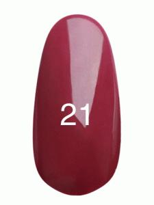 Гель лак № 21 (глубокий бордо с микроблеском)