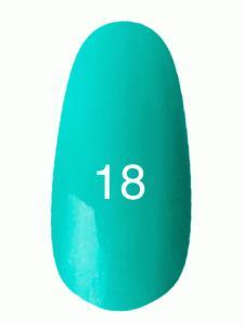 Гель лак № 18 (светлая бирюза с микроблеском)