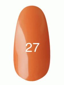 Гель лак № 27 (оранжевый, эмаль)