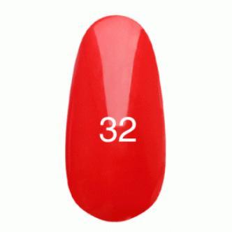Гель лак № 32 (светло-красный, эмаль)