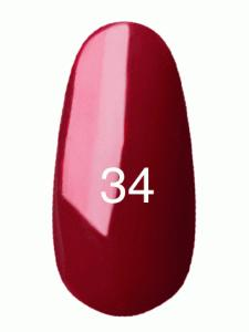 .Гель лак № 34 (классический бордовый, эмаль)