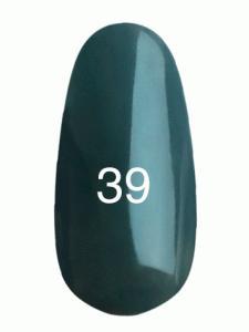 Гель лак № 39 (темно-серый, эмаль)