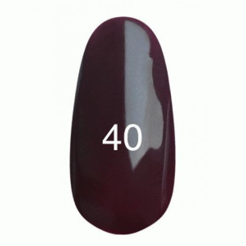 Гель лак № 40 (баклажановый, эмаль