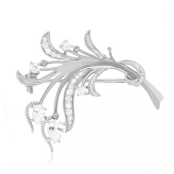 Серебряная брошь Silvex925 модели Бр2Ф/004
